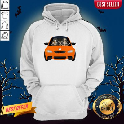 Skeleton Family Drive In The Car Halloween Day Hoodie