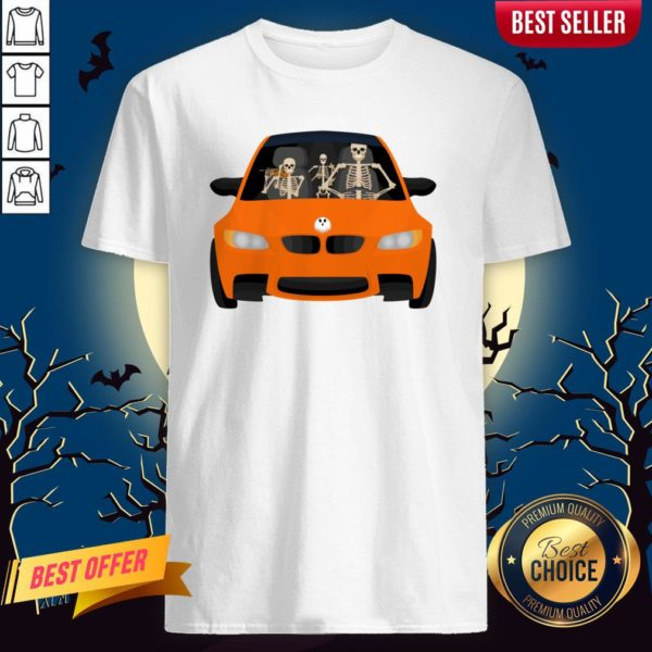 Skeleton Family Drive In The CSkeleton Family Drive In The Car Halloween Day Shirtar Halloween Day Shirt