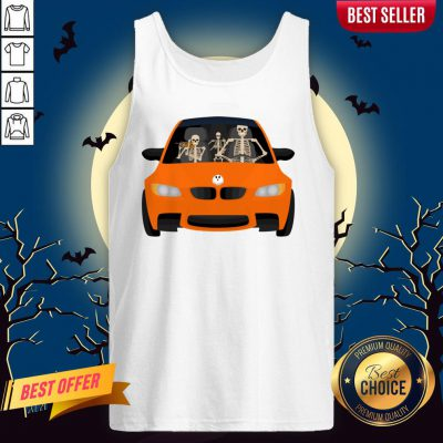 Skeleton Family Drive In The Car Halloween Day Tank Top
