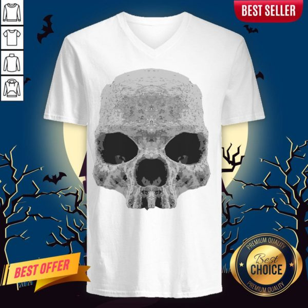 Skull Simple Day Of The Dead V-neck