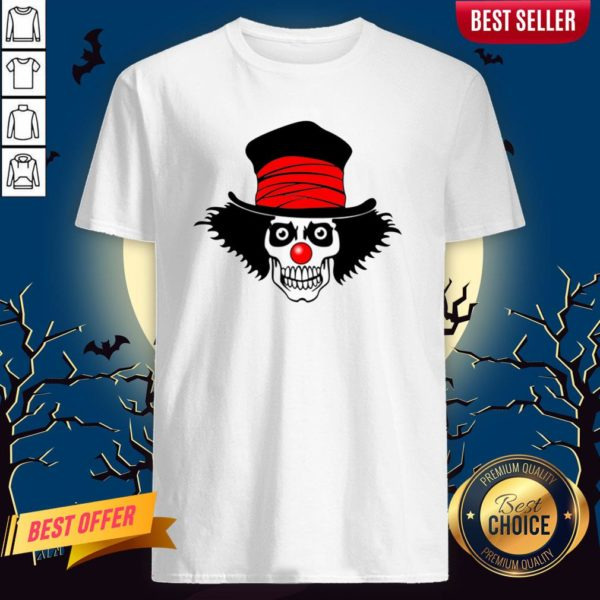 Skull With Top Hat Halloween And Day Of The Dead Shirt