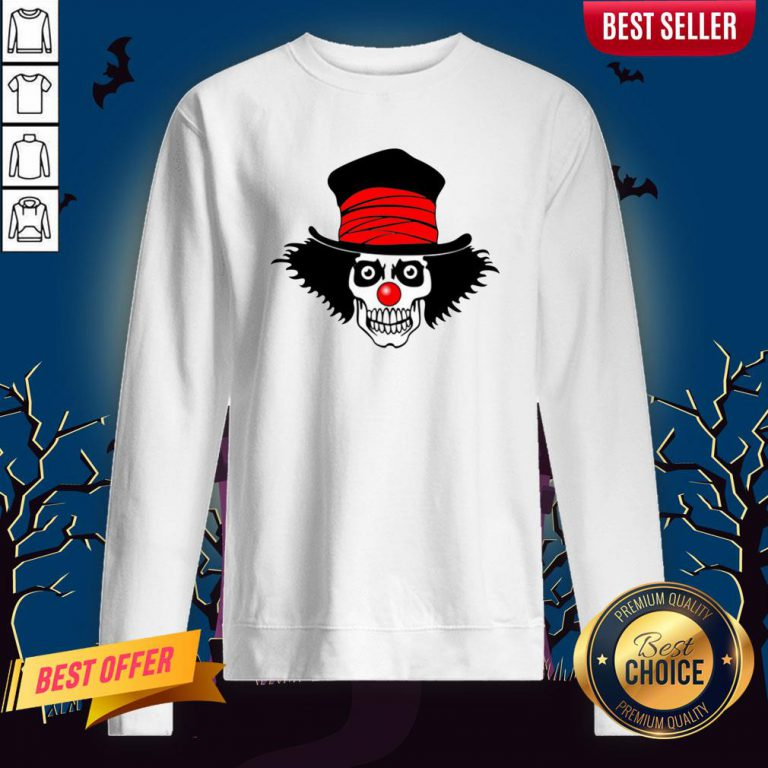 Skull With Top Hat Halloween And Day Of The Dead Sweatshirt