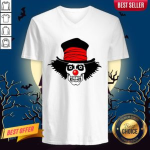 Skull With Top Hat Halloween ASkull With Top Hat Halloween And Day Of The Dead V-necknd Day Of The Dead V-neck