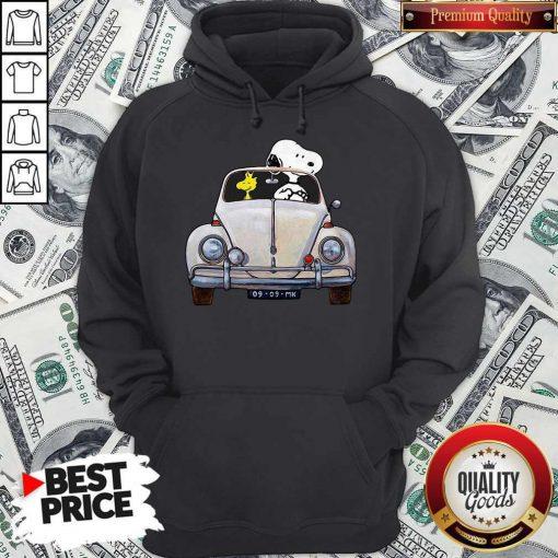 Snoopy And Woodstock Drive Car 09 09 Mk Hoodie