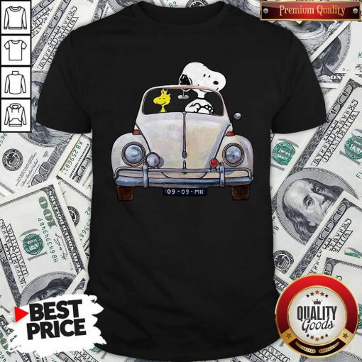 Snoopy And Woodstock Drive Car 09 09 Mk Shirt