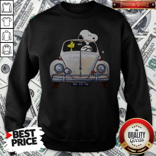 Snoopy And Woodstock Drive Car 09 09 Mk Sweatshirt
