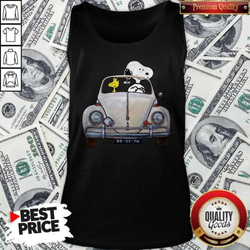 Snoopy And Woodstock Drive Car 09 09 Mk Tank Top