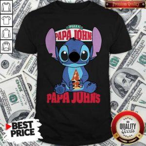Stitch Hug Pizza Papa John's Shirt