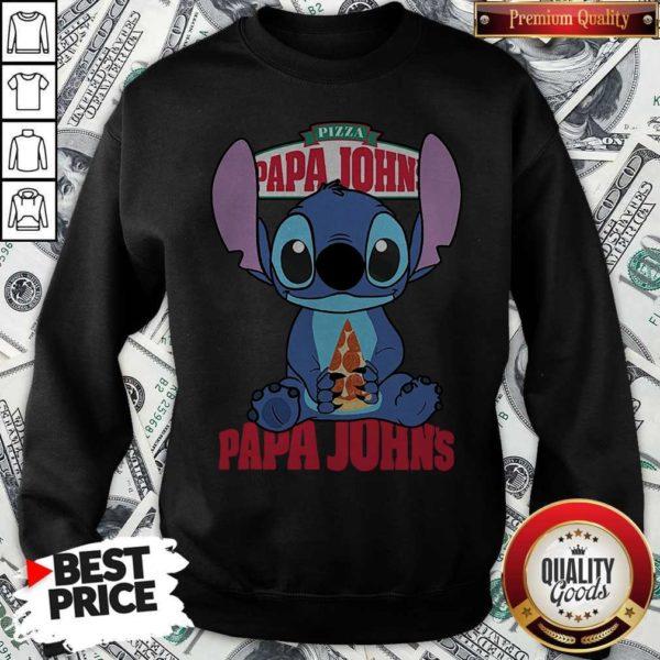 Stitch Hug Pizza Papa John's SStitch Hug Pizza Papa John's Sweatshirtweatshirt