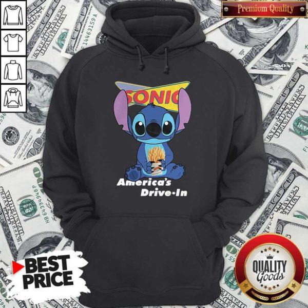 Stitch Hug Sonic Americas DrivStitch Hug Sonic Americas Drive In Hoodiee In Hoodie