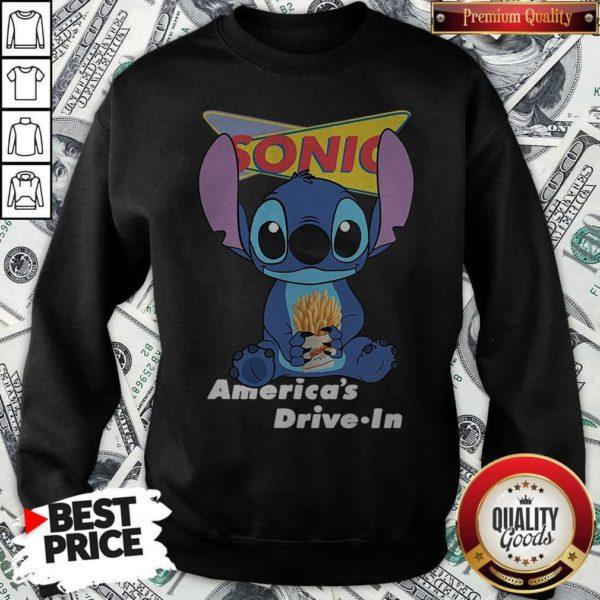 Stitch Hug Sonic Americas Drive In Sweatshirt