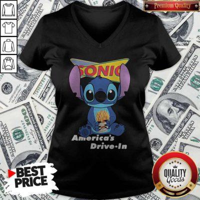 Stitch Hug Sonic Americas Drive In V-neck