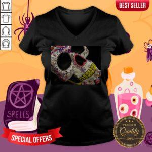Sugar Skull Day Of The Dead Dia De Los Muertos V-neck