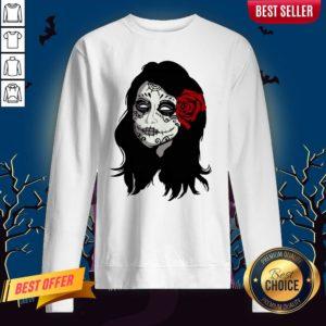 Sugar Skull Girl Day Of The Dead Dia De Muertos Sweatshirt