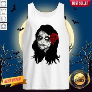 Sugar Skull Girl Day Of The Dead Dia De Muertos Tank Top