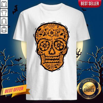 Sugar Skull Halloween Day Of The Dead Shirt