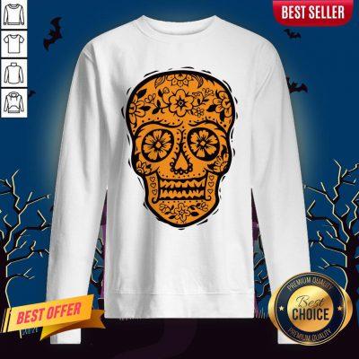 Sugar Skull Halloween Day Of The Dead Sweatshirt