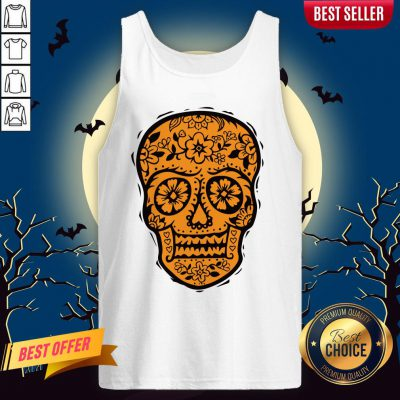 Sugar Skull Halloween Day Of The Dead Tank TopSugar Skull Halloween Day Of The Dead Tank Top