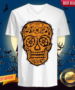 Sugar Skull Halloween Day Of The Dead V-neckSugar Skull Halloween Day Of The Dead V-neck