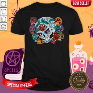 Sugar Skulls Collage Day Of The Dead Mexican Holiday Shirt
