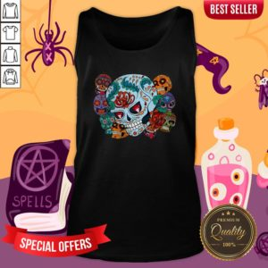 Sugar Skulls Collage Day Of The Dead Mexican Holiday Tank TopSugar Skulls Collage Day Of The Dead Mexican Holiday Tank Top