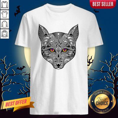 Sugar Skulls Vecta Fox Day Of The Dead Dia De Muertos Shirt