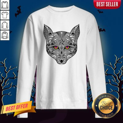 Sugar Skulls Vecta Fox Day Of The Dead Dia De Muertos Sweatshirt