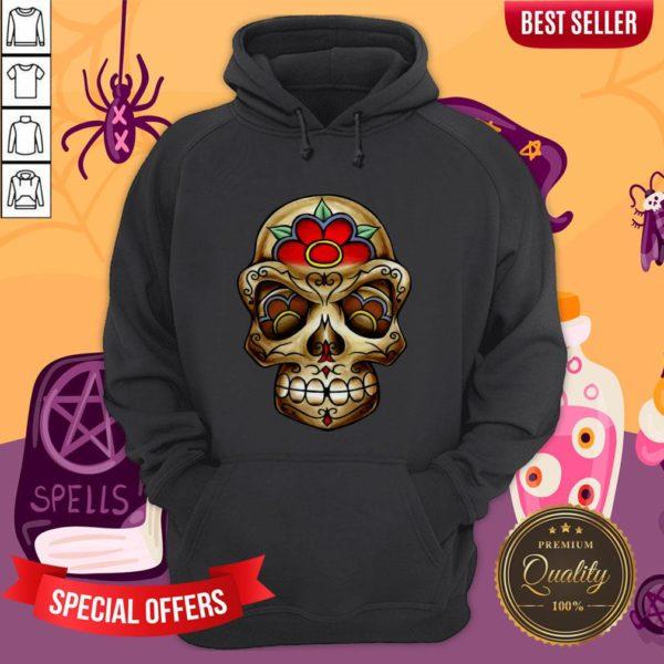 The Muertos Skull Halloween Mexican Holiday Hoodie