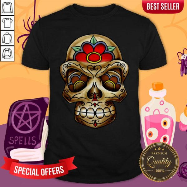 The Muertos Skull Halloween Mexican Holiday Shirt