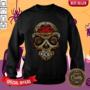 The Muertos Skull Halloween Mexican Holiday Sweatshirt