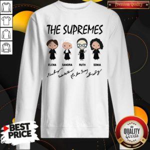 The Supremes Elena Sandra Ruth Sonia Signatures Sweatshirt
