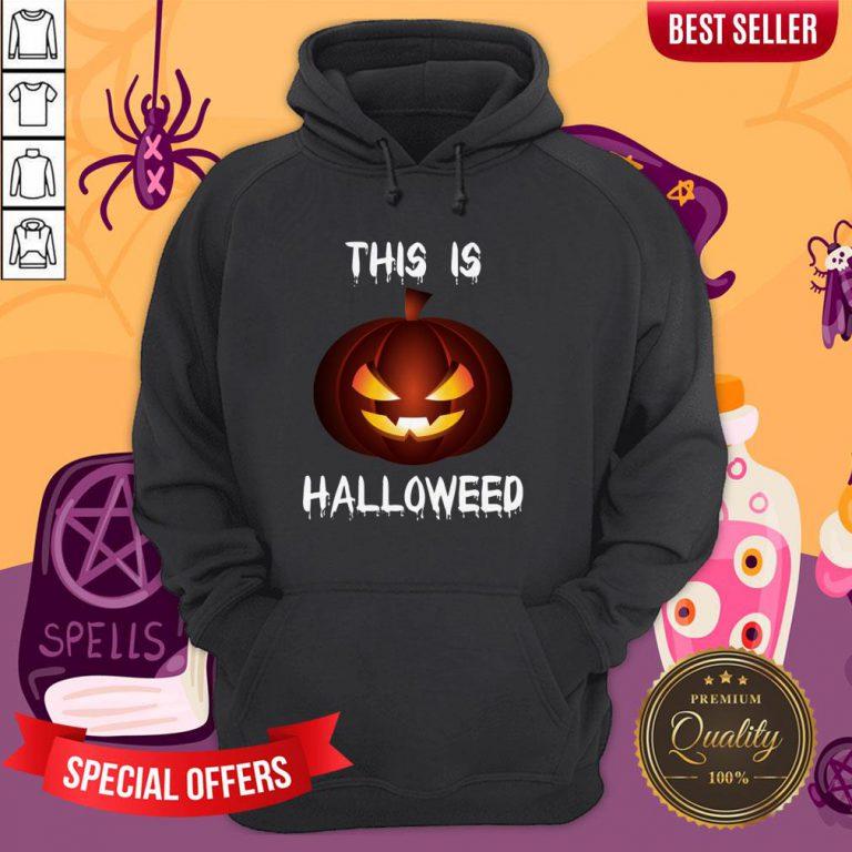 This Is Halloweed Retro Pumpkins Day Dead Hoodie