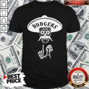 Top Skull Los Angeles Dodgers Shirt