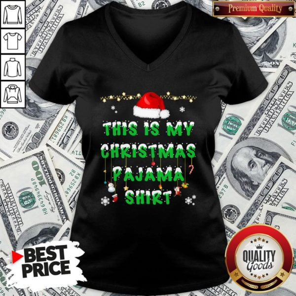 Beautiful This Is My Christmas Pajama V-neck - Design By Waretees.com