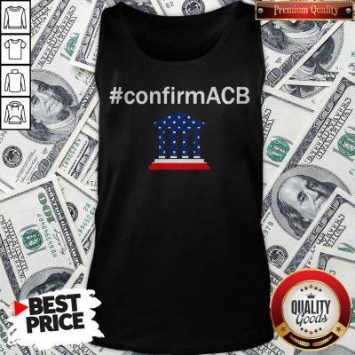 Confirm ACB Amy Coney Barrett Supreme Court America Flag USA Tank Top - Design By Waretees.com
