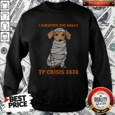 Dachshund Mummies I Survived The Great TP Crisis 2020 Sweatshirt