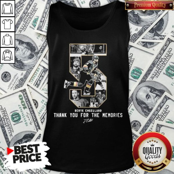 Deryk Engelland Thank You For The Memories Signature Tank Top - Design By Waretees.com