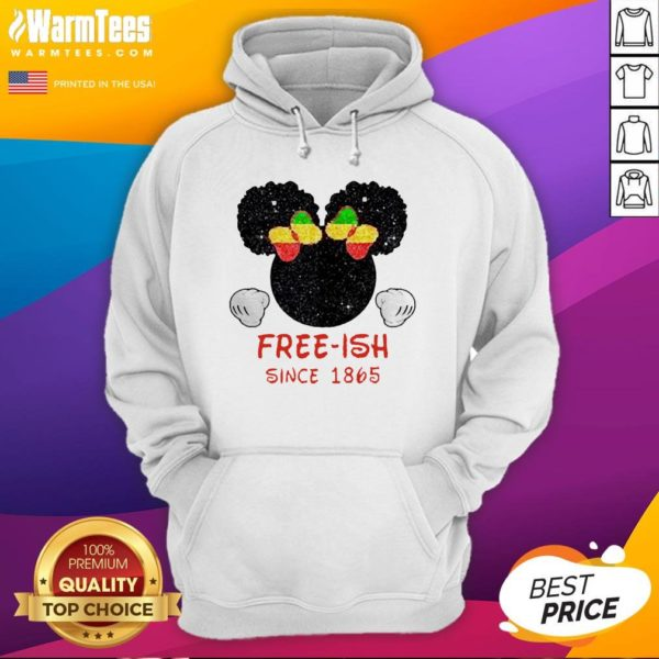 Disney Minnie Mouse Black Free-ish Since 1865 Hoodie - Design By Waretees.com