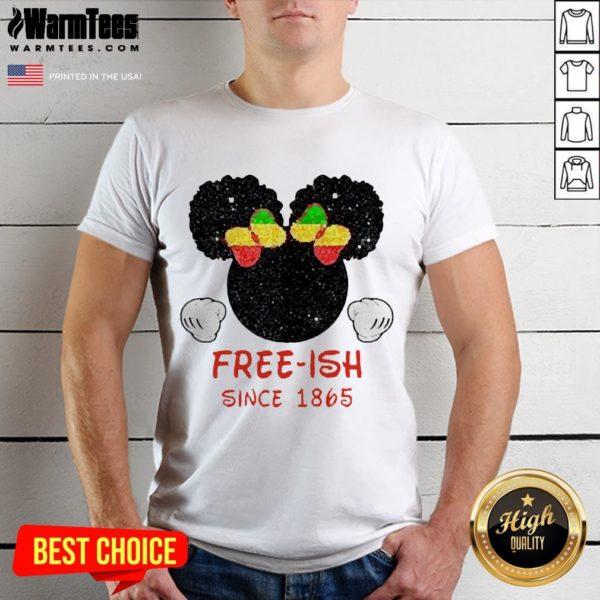 Disney Minnie Mouse Black Free-ish Since 1865 Shirt - Design By Waretees.com