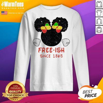 Disney Minnie Mouse Black Free-ish Since 1865 Sweatshirt - Design By Waretees.com