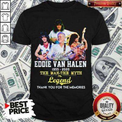 Eddie Van Halen 1955 2020 The Man The Myth The Legend Thank You For The Memories Shirt - Design By Waretees.com