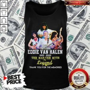 Eddie Van Halen 1955 2020 The Man The Myth The Legend Thank You For The Memories Tank Top - Design By Waretees.com