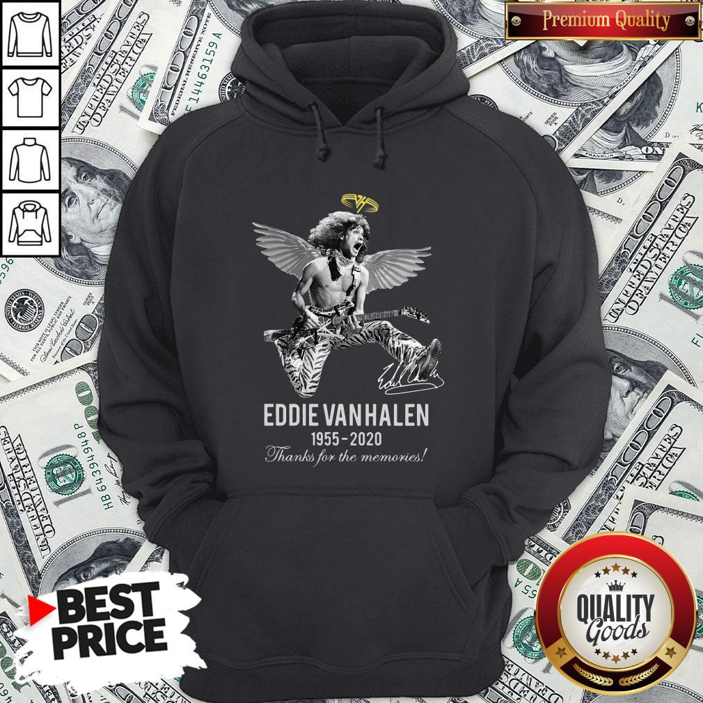 Eddie Van Halen Angle 1955 2020 Signature Thanks For The Memories Hoodie - Design By Waretees.com
