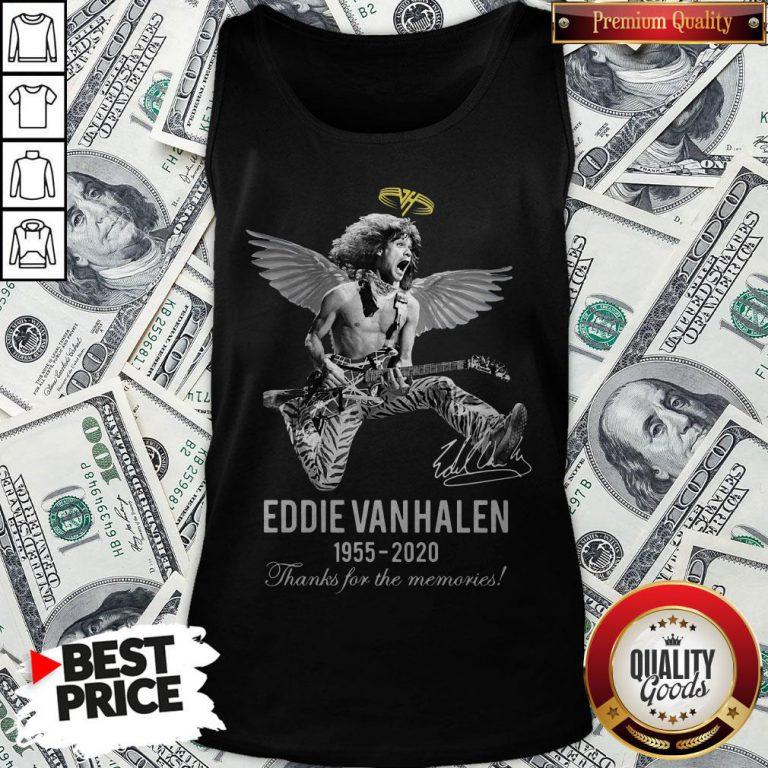 Eddie Van Halen Angle 1955 2020 Signature Thanks For The Memories Tank Top - Design By Waretees.com