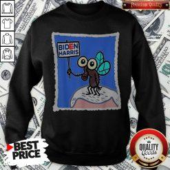 Fly On Mike Pence Head Biden Harris Sweatshirt - Design By Waretees.com