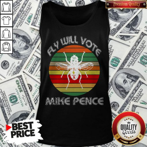 Fly On Mike Pence's Head For Biden Harris 2020 Tank Top - Design By Waretees.com