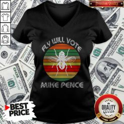 Fly On Mike Pence's Head For Biden Harris 2020 V-neck - Design By Waretees.com