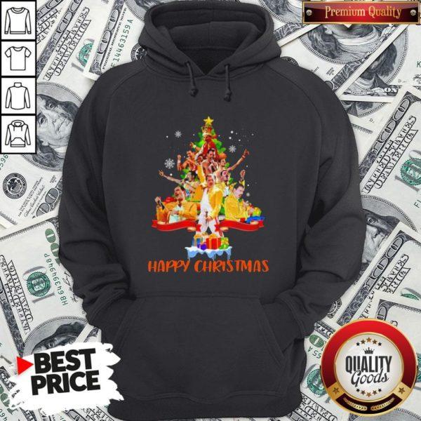 Freddie Mercury Happy Christmas Tree Hoodie - Design By Waretees.com