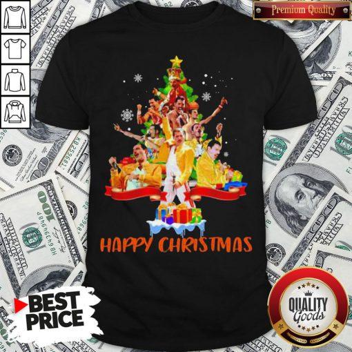 Freddie Mercury Happy Christmas Tree Shirt - Design By Waretees.com