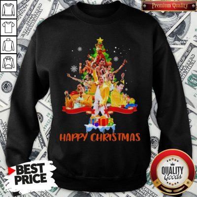 Freddie Mercury Happy Christmas Tree Sweatshirt - Design By Waretees.com